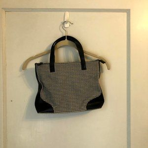 Etienne Aigner Hounds Tooth Hand Bag Purse